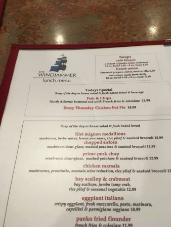 Somers Point, NJ: menu view