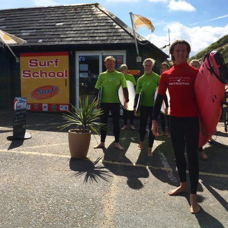 Surf School location Croyde