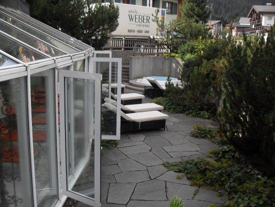"""Romantik Hotel """"Die Krone von Lech"""": la terrasse du SPA"""