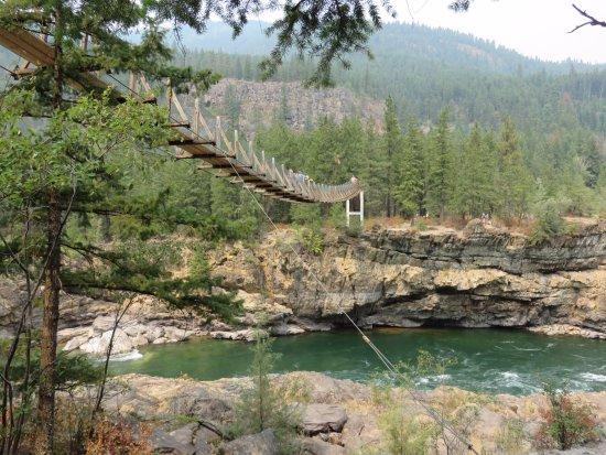 Libby, MT: Swinging bridge