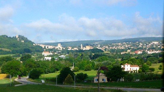 Pierrerue, France: Forcalquier au loin