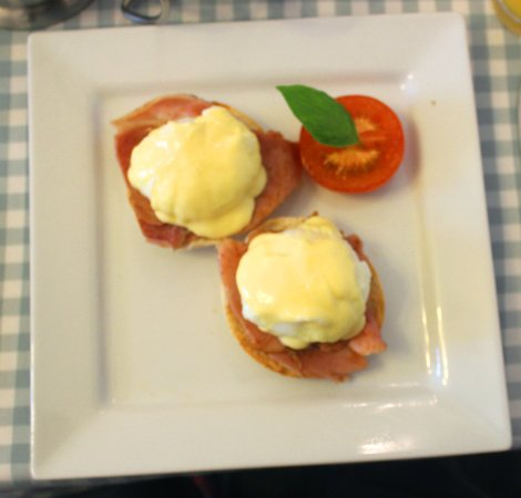 Golden Hind Guest House: Eggs Benedict