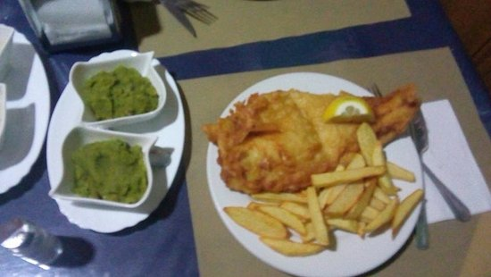 Roldan, Испания: Lovely cod & chips and mushy peas, on Friday 3pm till 8pm.