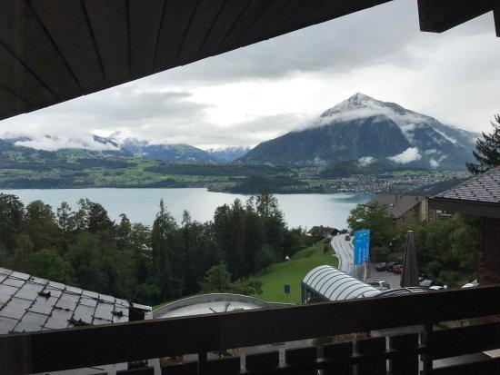 Sigriswil, Swiss: einmalige Aussicht vom Balkon aus