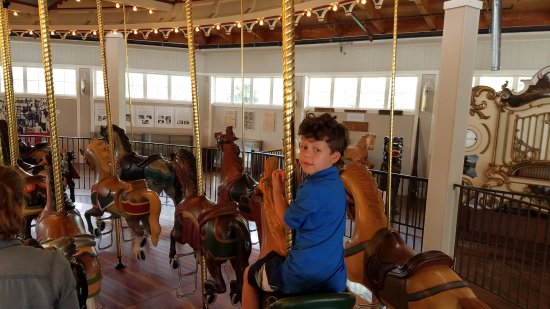 Seabreeze Amusement Park: Gus on the Carousel (with the Military Band Organ in the background)