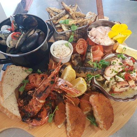 Hythe, UK: seafood antipasto