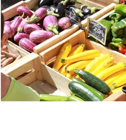 légumes sur le marché de Sorgues