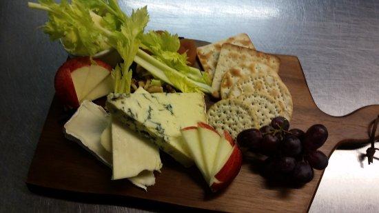 Guisborough, UK: Cheese Board from evening menu