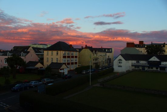 Clement Dale Guest House: view of the sunset from our room