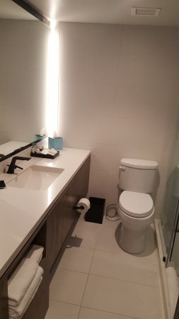 while a bit narrow the counter space was generous and the bathroom rh tripadvisor com
