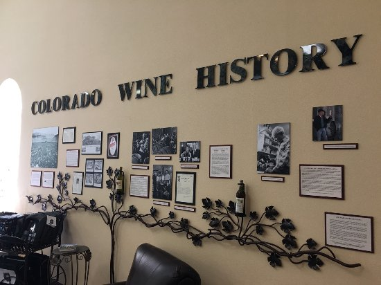 Palisade, CO: Wine history in gift shop area at St. Kathryn Cellars