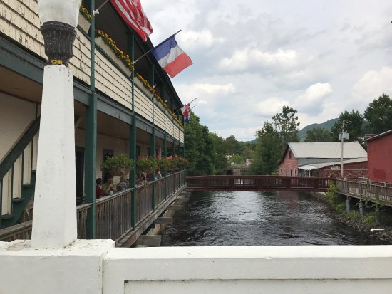 Saranac Lake, NY: A beautiful spot on a summer day. Great food!