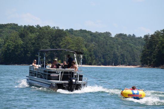 Acworth, GA: Tubing is more fun when you're the one on the tube! But watching is a close second!