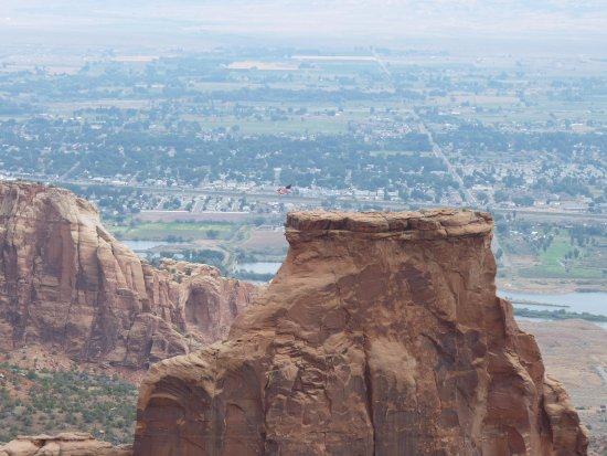 Fruita, CO: Flag on top Of Independence Rock