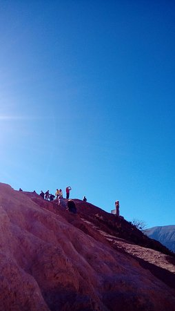 Cerro de los Siete Colores (Berg der sieben Farben): en la cima