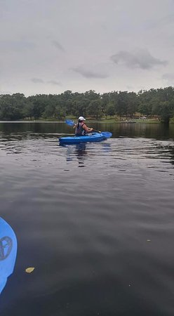 Centerville, TX: Kayaking on the lake in Fort Boggy State Park