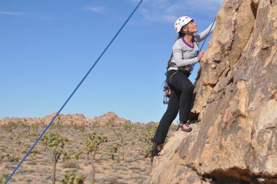 Parco nazionale di Joshua Tree, CA: Joshua Tree is one of the best places in America to learn rock climbing.