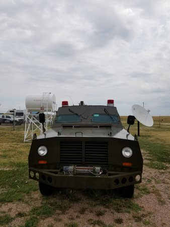 Philip, Dakota del Sur: Armored vehicle that accompanied the missile trucks.
