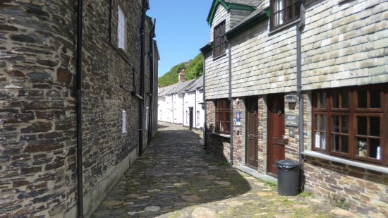 One of Boscastle's narrow streets