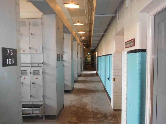 Blaenavon, UK: Recreated locker rooms and showers