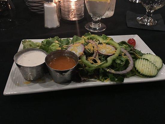 Rhinelander, WI: Salad with blood orange and creamy garlic dressing