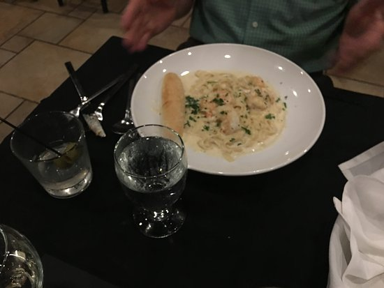 Rhinelander, WI: Alfredo with Shrimp