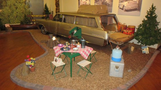 Older Pontiac wagon with period correct campground items