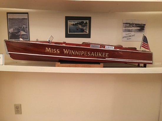 Wolfeboro, NH: There are many rare vintage model boats on display.