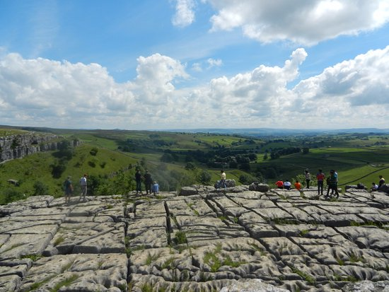 Malham, UK: The view from the limestone pavement
