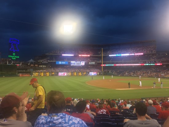 Citizens Bank Park: Photo from a 7:05pm game