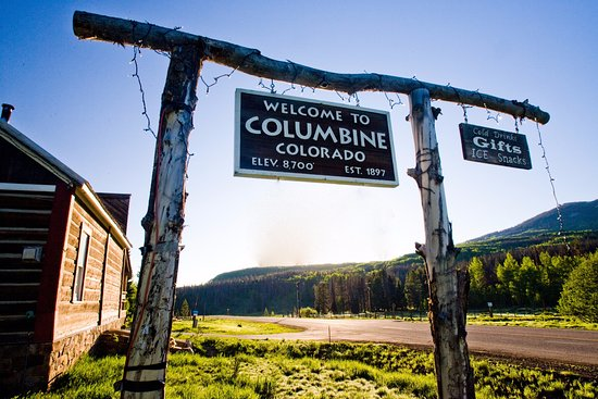 Clark, CO: Historic Columbine Town Sign