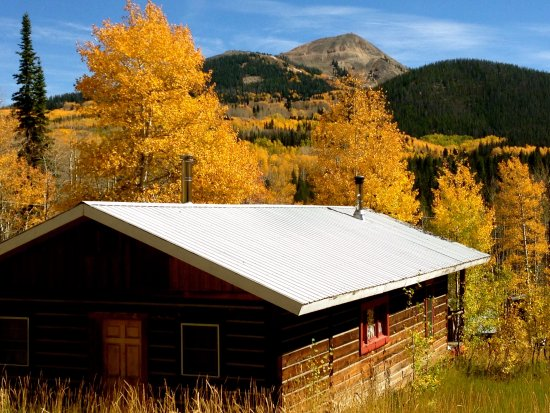 Clark, CO: View of Hahns Peak in Fall