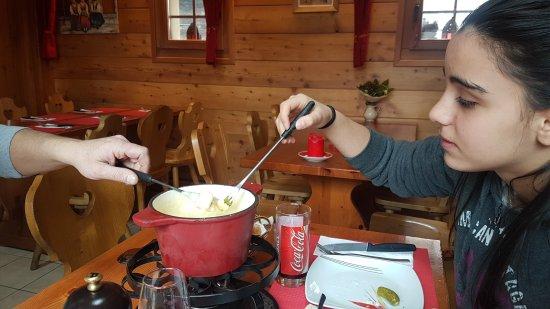 Evolene, İsviçre: Un moment à tomber