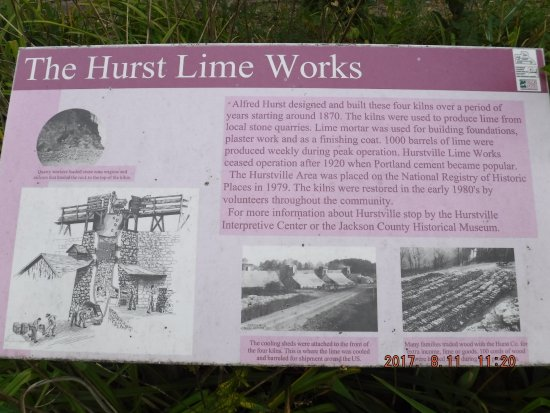 Maquoketa, IA: Hurstville Lime Kilns - information post