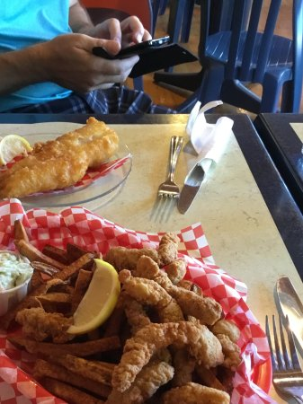 Saint Peters Bay, Canada: Clam strips and fries