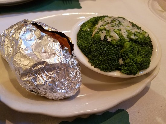 Hammonton, NJ: baked sweet potato and broccoli--just ok