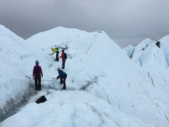 Glacier View, AK: Trekking up...while roped in.