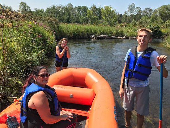 Wolverine, MI : Sturgeon River rafting, August 2017 Our family had a blast!