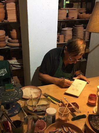Céramiques Sant Vicens : L'artiste dans son atelier