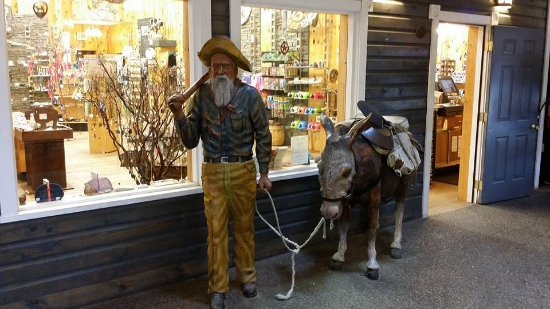 One of many life-sized mannequins at Wall Drug