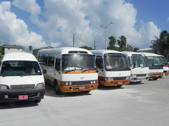 George Town, Grand Cayman: Enjoy your tour safely in our new and well cared-for Tour Buses.  Wheel chair access is availabl