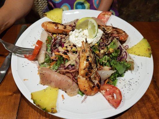 Terre-de-Haut, Guadalupe: Salade fraicheur et salade de chèvre chaud