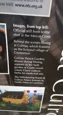 Culross, UK: Description of sites used for filming