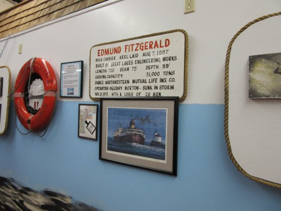 Sault Ste. Marie, MI: Edmund Fitzgerald display -- a small part.