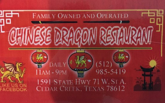 Cedar Creek, Τέξας: Chinese Dragon