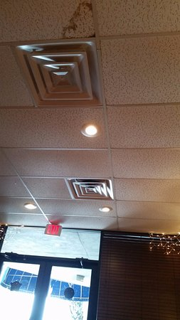 Gabriella's Italian Grill & Pizzeria : Leaky roof, water falling next to our table. Water can equal mold.