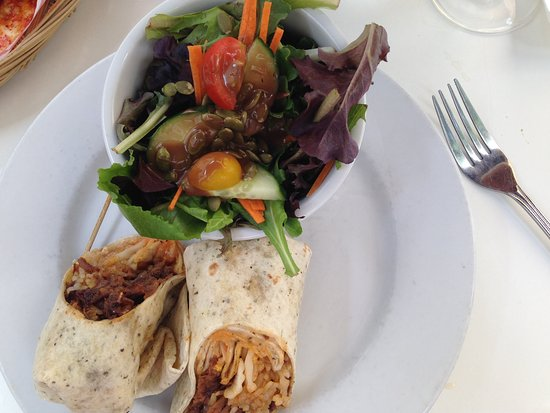 Westport, Canada: Korean beef BBQ wrap with salad and balsamic dressing