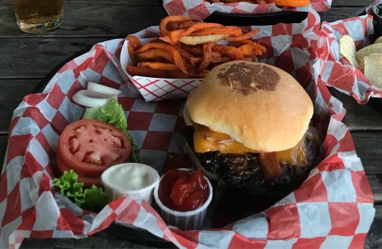 Padre Island Burger Company: The tasty Dr. Padre special burger.