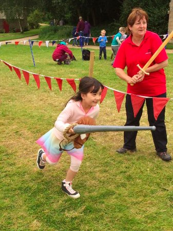 """Belsay Hall and Gardens: """"Jousting training """""""