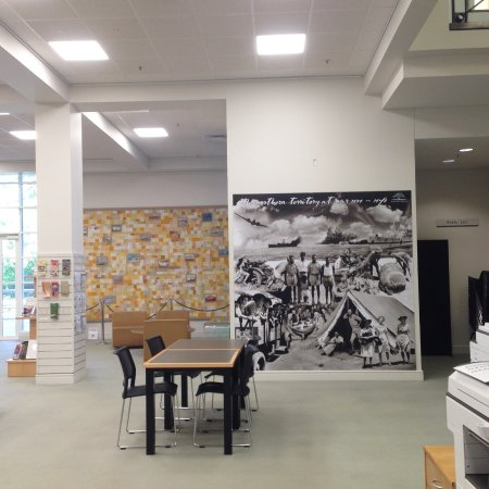 Northern Territory Library : The Darwin quilt in the background